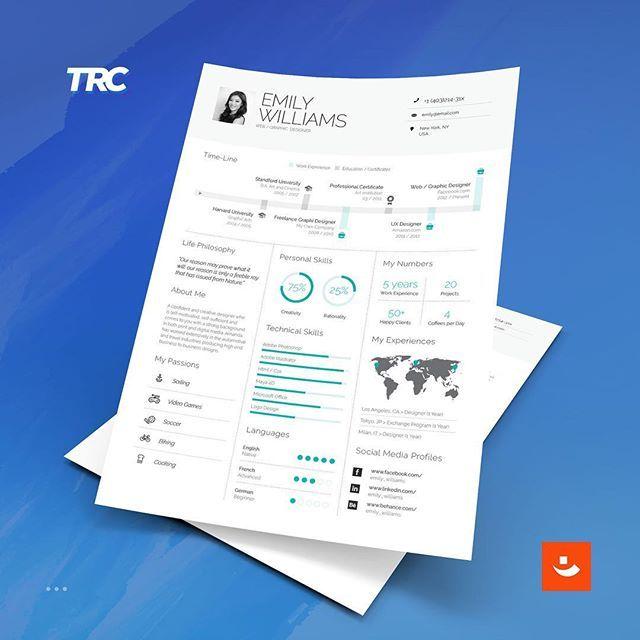 インフォグラフィック  Colorful Resume Templates