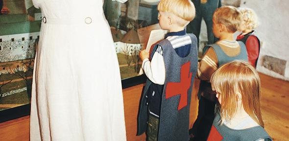 "A brave little knight on ""Knight tour"" in Turku Castle"