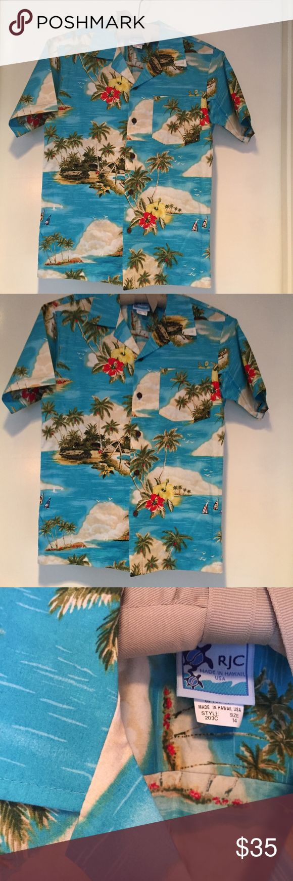 From Hawaii - Authentic RJC Hawaiian Print Shirt The coolest. From the big island, the one and only RJC Authentic Hawaiian shirt. Pure island swagger. RJC Shirts Casual Button Down Shirts
