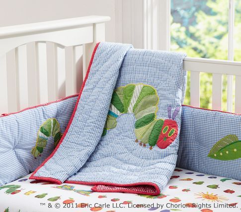 The Very Hungry Caterpillar™ Nursery Bedding | Pottery Barn Kids... Kind of want to buy this for the future haha... So fun!