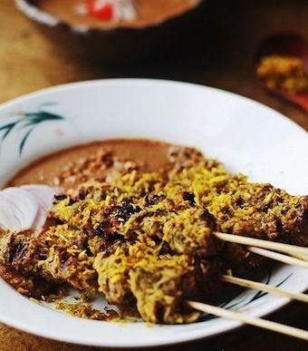 indonesian coconut beef satay recipe | Meal ideas | Pinterest
