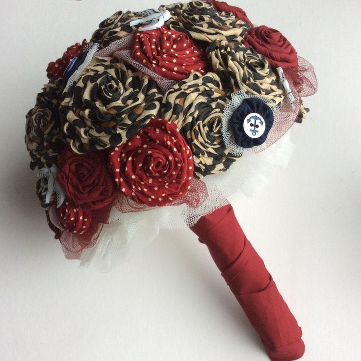 Rockabilly bouquet for a rock n roll bride, quirky, alternative wedding, retro bridal bouquet, 1950s theme, leopard print wedding flowers by BlueLilyMagnolia on Etsy