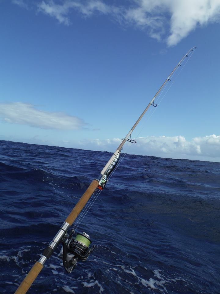 Maven Pacific Stickbait on its first Hawaiian boat ride.