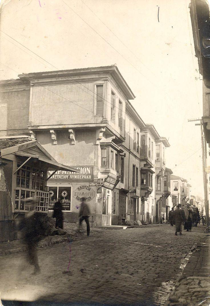 Koca Kasım Paşa Semti'nde dükkanlar. Selanik