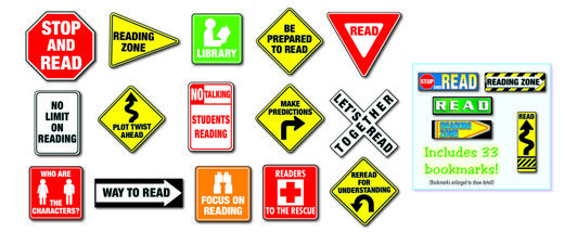 Reading Road Signs Bulletin Board   Bulletin Board Sets   Classroom Decorations   Education   Mardel