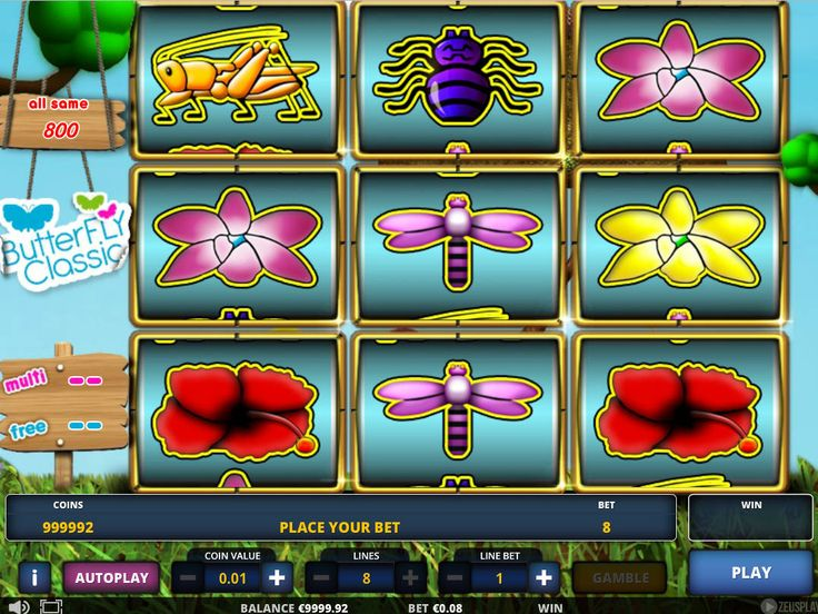 Butterfly Classic - http://freeslots77.com/butterfly-classic/ - Nature defines beauty in many forms. One of its creations is insects like a butterfly, which is the prime attraction in free Butterfly Classic slot. In terms of design, this game is classified as a 3-reel slot. The game is themed with the refreshing blue sky, pictures of flowers and insects like...