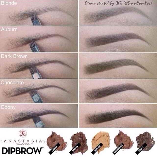 Eyebrow colors