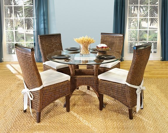 23 Best Indoor Wicker And Rattan Dining Sets Images On Pinterest Custom Indoor Wicker Dining Room Sets Inspiration Design
