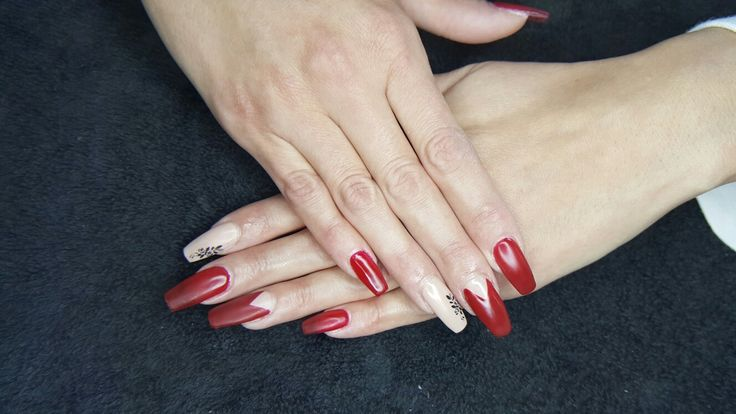 Nails done with nded and biosculpture