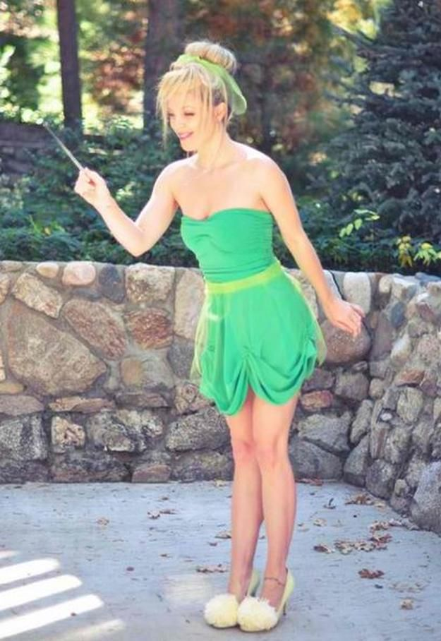 DIY: Adult Tinkerbell Costume | Cute and Fun Halloween Costumes by DIY Ready at http://diyready.com/diy-tinkerbell-costume-ideas/