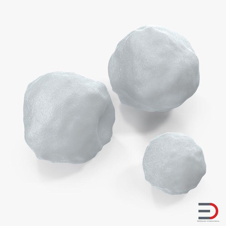 3D Snowballs Set model