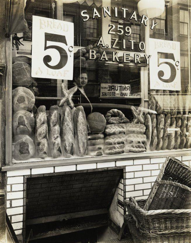 Berenice Abbott 1937 Zito's Bakery, 259 Bleecker Street NY | The Jewish Museum > more on Zito's: http://www.nytimes.com/2004/05/28/nyregion/a-landmark-bakery-closes-in-the-village.html