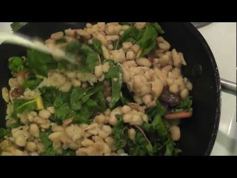 Sauteed Cannellini Beans with Rainbow Chard - naturally gf :)