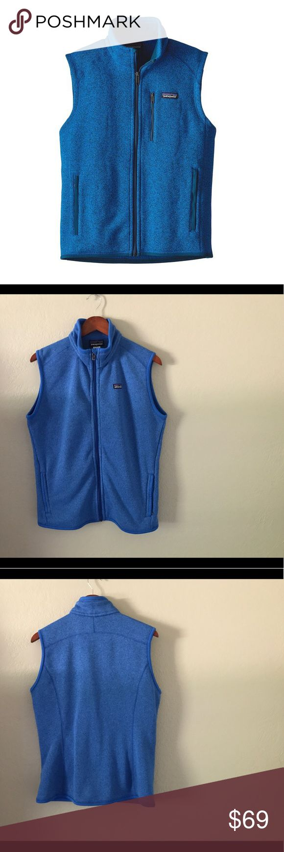 Patagonia Better Sweater Vest - Women's • XL Patagonia Better Sweater Vest - Women's • XL - Signature Andes Blue in color - barely worn - excellent condition - staple piece - keeps you warm without feeling heavy - feels wonderful and rich! Patagonia Jackets & Coats Vests