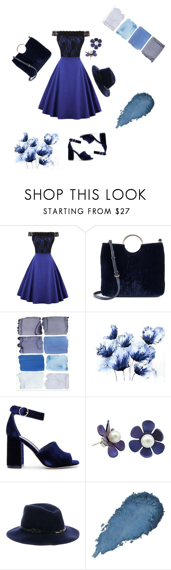 """""""blue"""" by briia-lewiis ❤ liked on Polyvore featuring WithChic, LC Lauren Conrad, Joie and Eugenia Kim"""