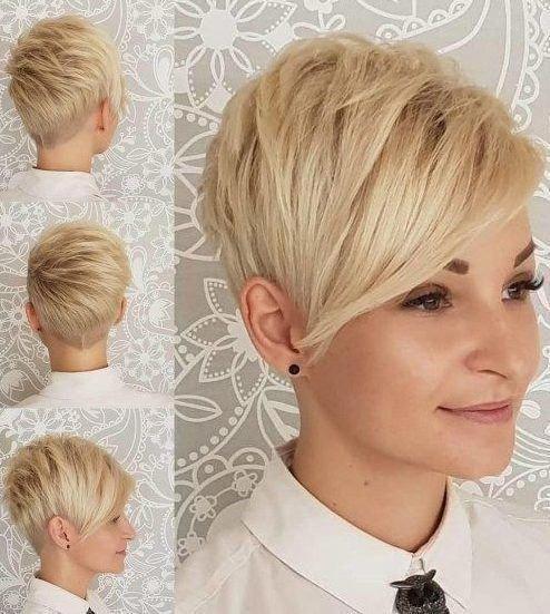 Haarfarbe Ideen für kurze Pixie Cuts Bright und Bold Pixie Haarfarbe Trends A …   – short pixie cut