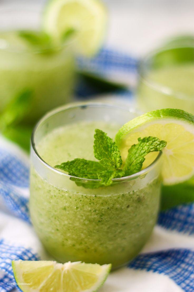Frozen Mojito Margaritas via StrictlyDelicious.com