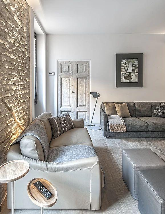 BRANDO concept  | interior design small space piccoli spazi arredo living salotto materiali naturali