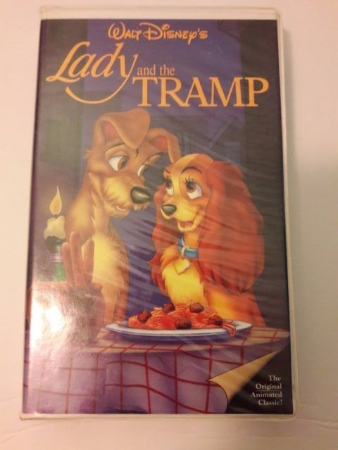 Lady and the Tramp VHS Disney Movie Free Shipping