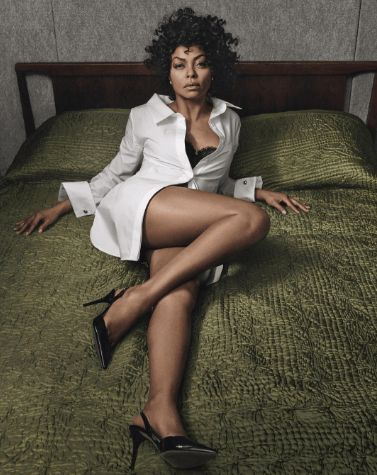 Taraji P. Henson appears in this month's issue of W Magazine, which features empowered women in television and film, looking stunning. Photographed on a bed, wearing a button down shirt and b…