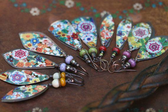 Boho Folk rustikalen Erde Gärten Serie Floral Zinn von Tribalis