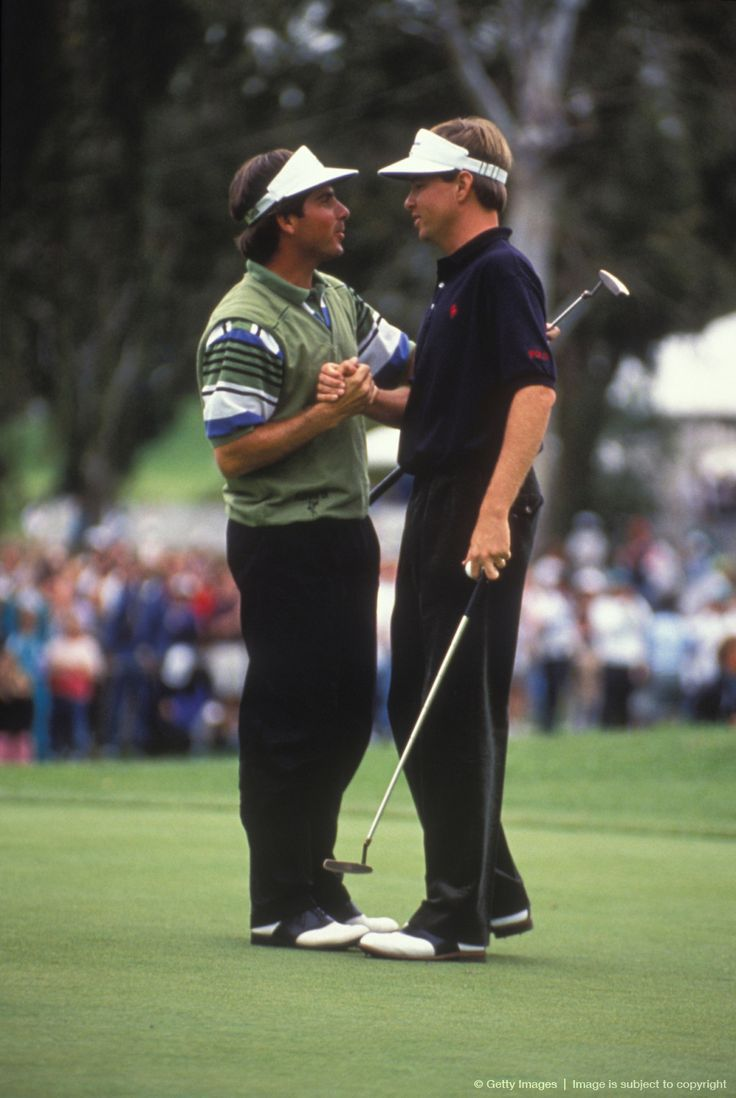 Fred Couples and Davis Love III at the 1992 Nissan Open