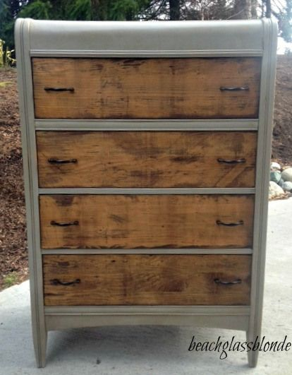 Waterfall Dresser Remodel -- Love this!!