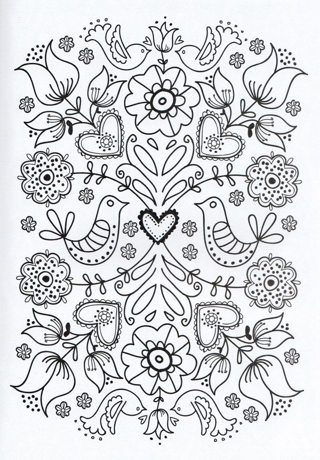 mexican flowers coloring pages-#20