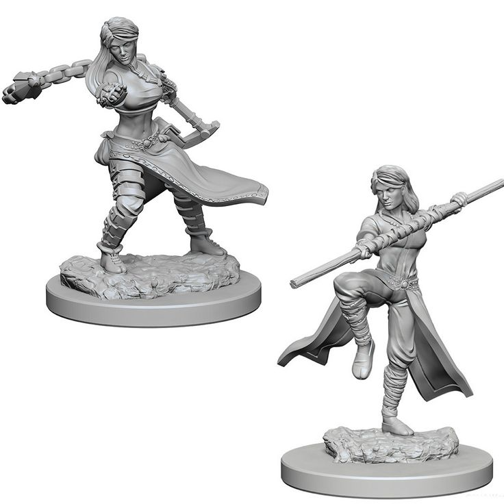 D&D Unpainted Nolzur's Marvelous Miniatures Female Human Monk