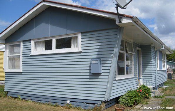 Resene Powder Blue on house exterior