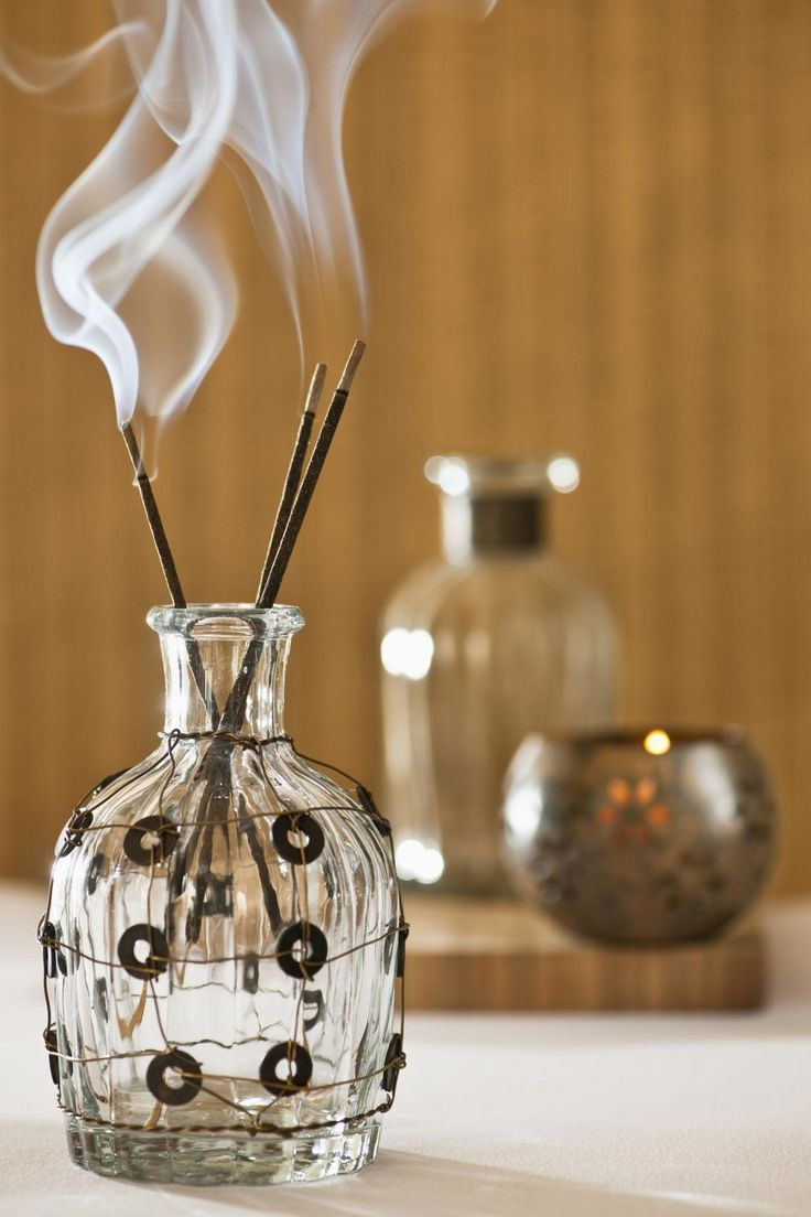 """Carefully burn some incense. ** """"Nag champa is best used in a clean home for meditation as it's property creates a calm and serene atmosphere,"""""""