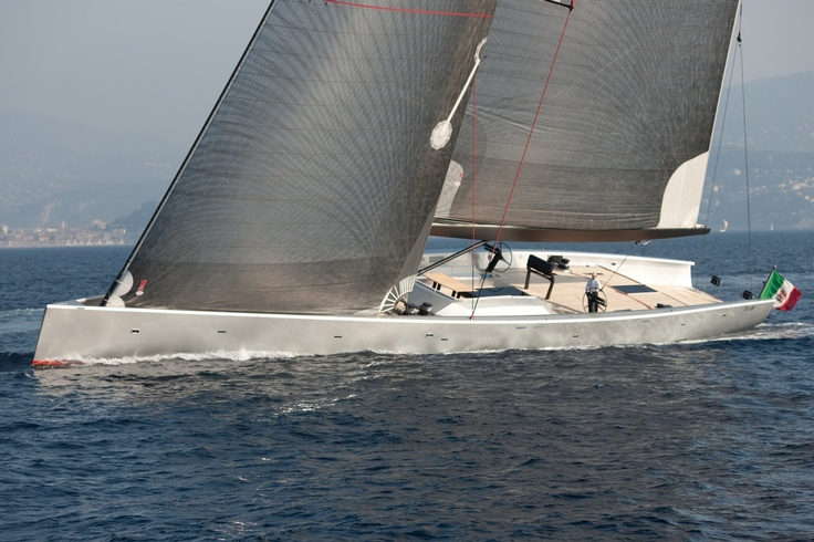 Designed by Javier Soto Acebal, Wally 130 The Dreamer is one of the largest single-mast sailboat.