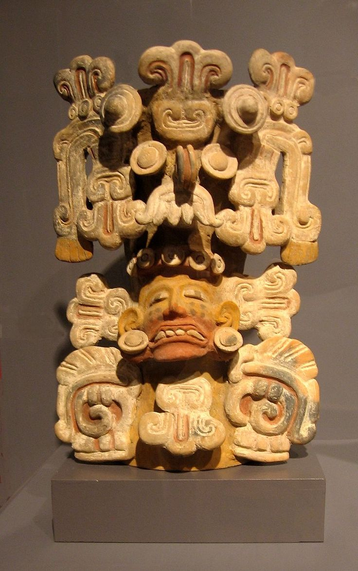 Tarascan incense burner w Tlaloc headdress - Tarascan state; also known as the Purépecha people.  - Wikipedia, the free encyclopedia