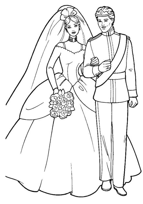 Barbie And Ken Royal Wedding Coloring Pages Wedding Coloring Pages Barbie Coloring Barbie Coloring Pages