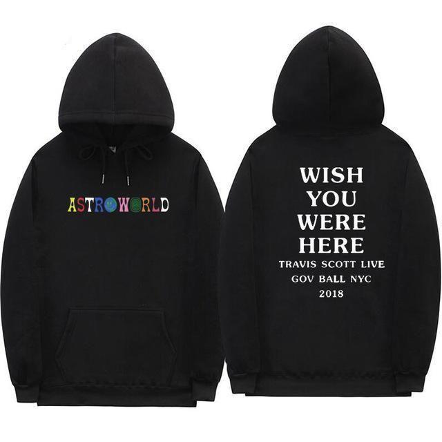 Travis Scott Astroworld WISH YOU WERE HERE hoodies fashion