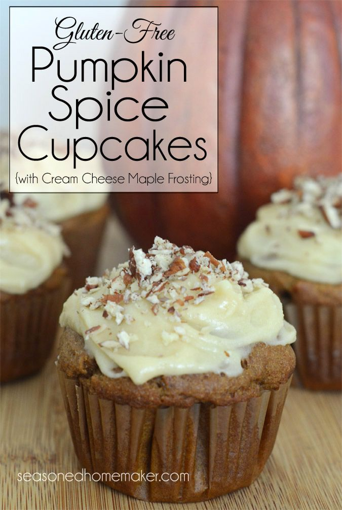 pumpkin spice cupcakes with cream cheese maple frosting pumpkin spice ...