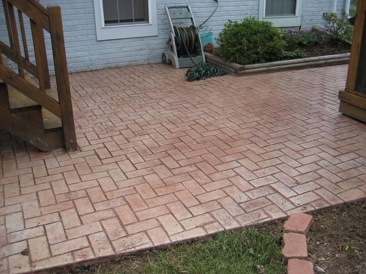 Brick, Stamped Concrete To Keep The Old Look Of The Brick And Match The  House