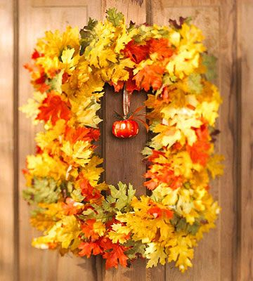 Thrifty Decor Chick: A dollar store fall wreathThrifty Decor Chick, Fall Leaves, Dollar Stores, Fall Decor, Doors Decor, Fall Wreaths, Picture Frames, Autumn Wreaths, Old Pictures Frames