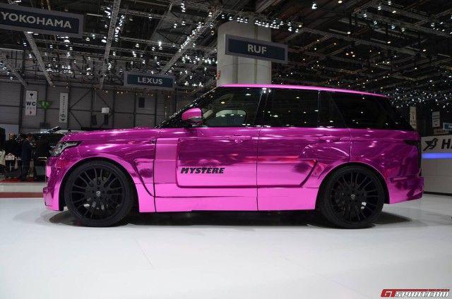 Hamann Pink Range Rover Sport at the 2013 Geneva Motor Show http://www.landroverpalmbeach.com/