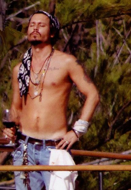 Pictures Johnny Depp Family | Johnny depp shirtless