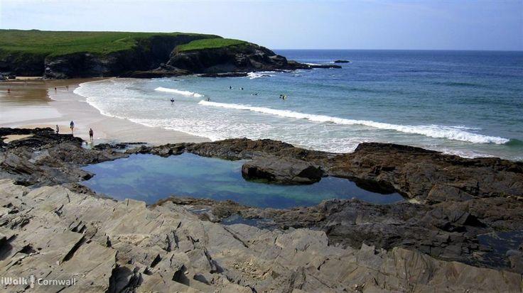 Natural swimming pool at Treyarnon Bay, Cornwall