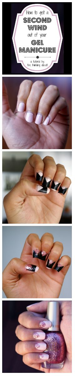 How to Get a Second Wind Out of Your Gel Manicure   A step by step tutorial (and free SILHOUETTE cut file) using vinyl cutouts to add a simple, but fun, addition to your fading manicure!