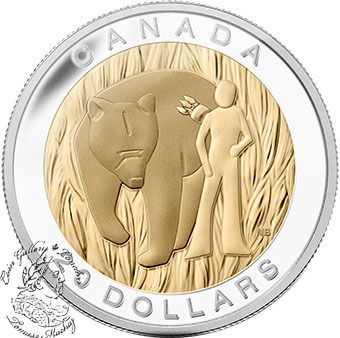 Canada: 2014 $20 The Seven Sacred Teachings: Courage Gold Plated Silver Coin - Coin Gallery London Store