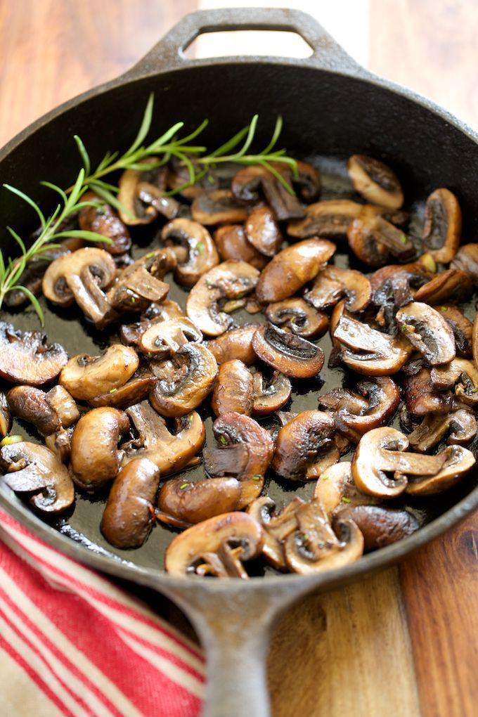 Garlic Butter Sauteed Mushrooms | GI 365