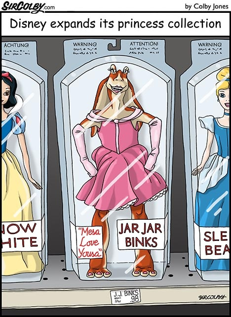 The latest Disney Princess...well that is frightening...
