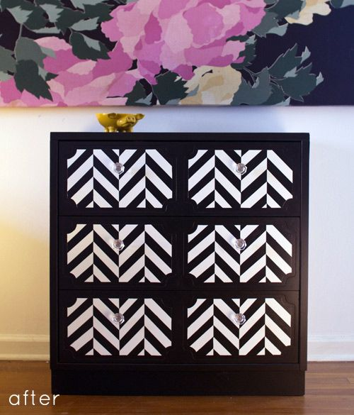 i dont normally save painted furniture before and afters, but this dresser is really impressive!