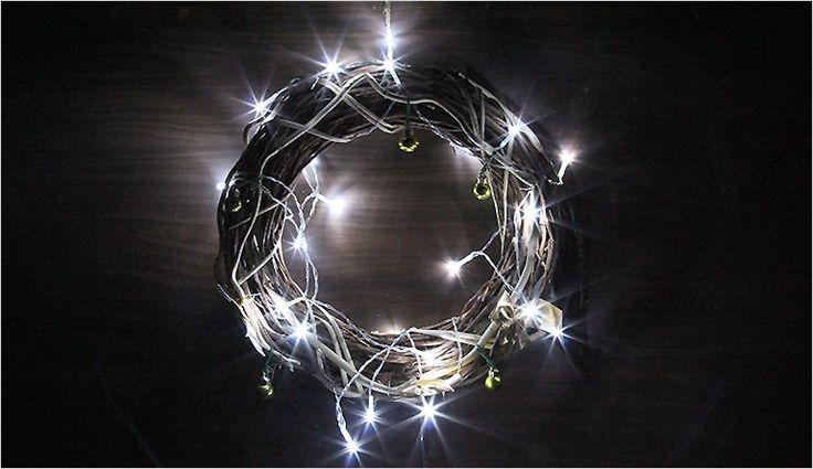 Lampki świąteczne 20 LED białe zimne na baterie 3m Polandi