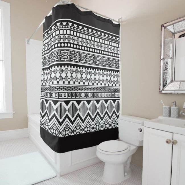 Aztec Shower Curtain Spruce Up The Bathroom Giftsforher