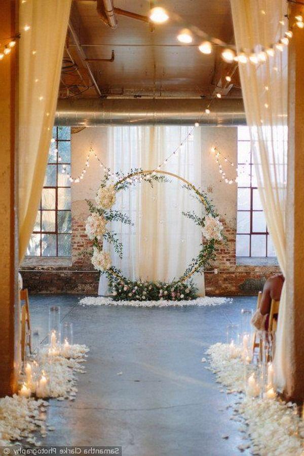 stunning wedding ceremony ideas with round arch