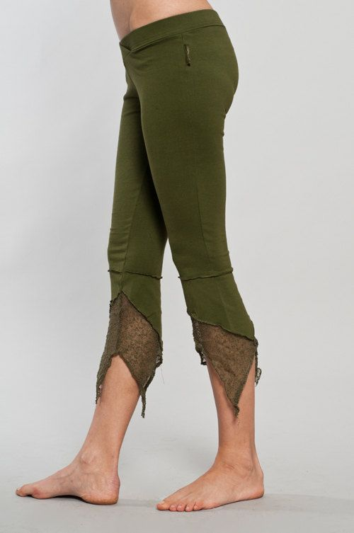 Woodland feel to the Pointy Pixie leggings suitable for any fairy ball or occasion.